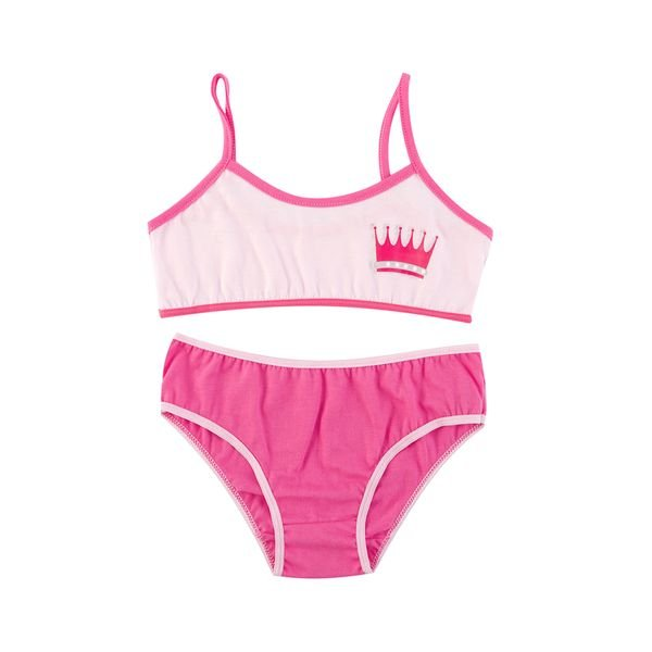 conjunto top calcinha infantil menina princess rosa evanilda 22010026