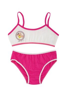 conjunto top calcinha infantil menina turma monica rosa evanilda 22040038