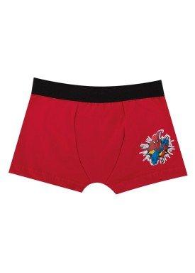 cueca boxer infantil menino spiderman vermelho evanilda 17050065