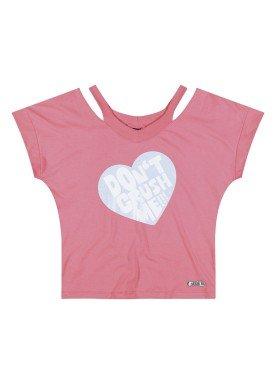 blusa juvenil feminina crush rosa youngclass 23654