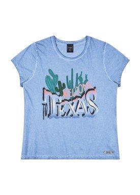 blusa juvenil feminina texas azul youngclass 23652