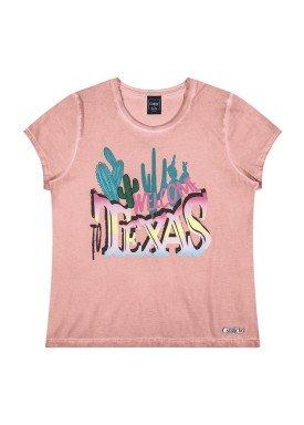 blusa juvenil feminina texas salmao youngclass 23652