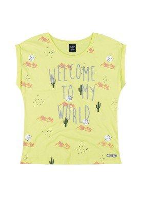 blusa juvenil feminina welcome amarelo youngclass 23655
