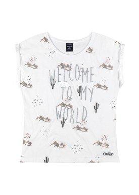 blusa juvenil feminina welcome branco youngclass 23655