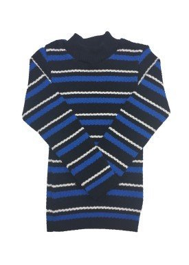 blusao la infantil masculino listrado azul remyro 00902