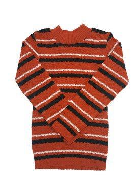 blusao la infantil masculino listrado laranja remyro 00902
