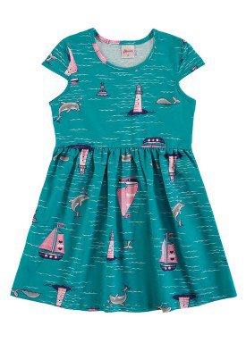 vestido infantil feminino oceano verde alenice 46905