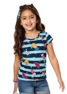 blusa infantil feminina frutas azul alenice 46901 2