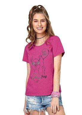 blusa juvenil feminina lhama pink rezzato 30644 1
