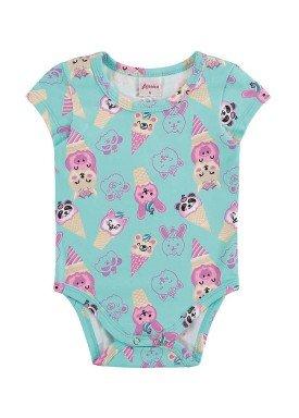 body bebe feminino sorvete azul alenice 40896