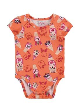 body bebe feminino sorvete laranja alenice 40896