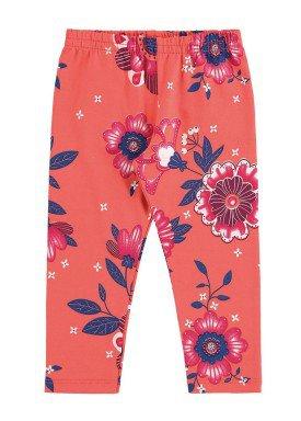 calc a legging infantil feminina floral laranja alenice 40899