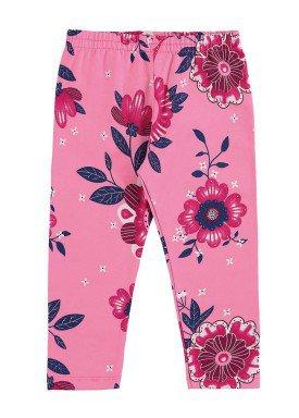 calc a legging infantil feminina floral rosa alenice 40899