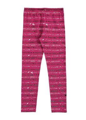 calc a legging infantil feminina lovely pink alenice 46903