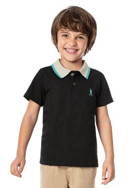 camisa polo infantil masculina baseball preto alenice 46882 1