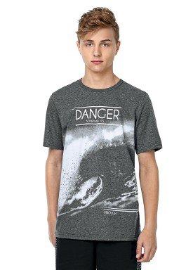 camiseta juvenil masculina danger mescla rezzato 30654 1