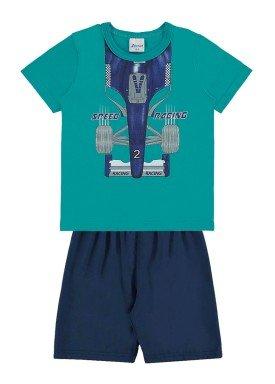 conjunto infantil masculino racing verde alenice 44185 1