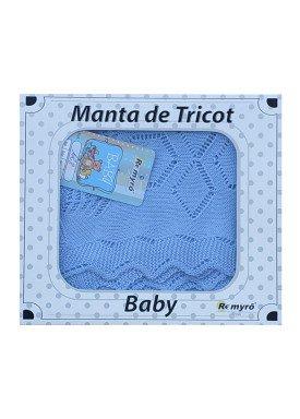 manta trico bebe azul remyro 128 1