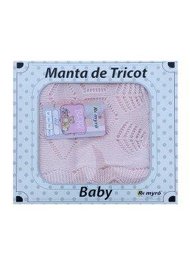 manta trico bebe rosa remyro 128 1
