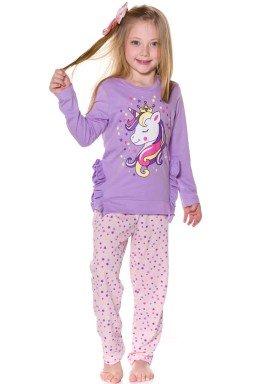 pijama longo infantil menina unicornio lilas evanilda 24010058