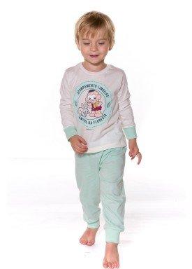 pijama longo infantil menino cascao natural evanilda 41040009