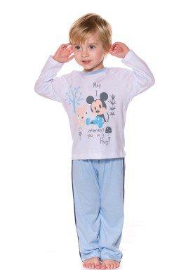 pijama longo infantil menino mickey branco evanilda 41030002