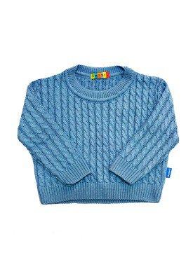 blusao trico bebe masculino azul remyro 0950