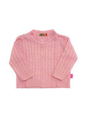cardiga trico bebe feminino rosa remyro 0951