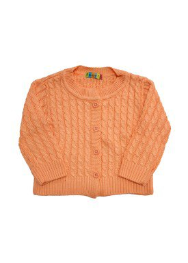 cardiga trico bebe feminino salmao remyro 0951
