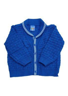 cardiga trico bebe masculino azul remyro 1030