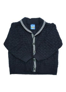 cardiga trico bebe masculino marinho remyro 1030