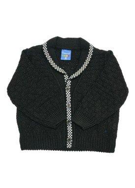 cardiga trico bebe masculino preto remyro 1030