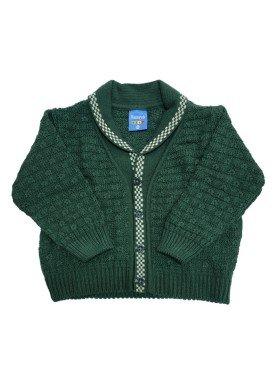 cardiga trico bebe masculino verde remyro 1030