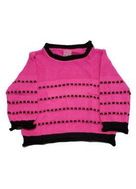 sueter trico bebe feminino pink remyro 1004
