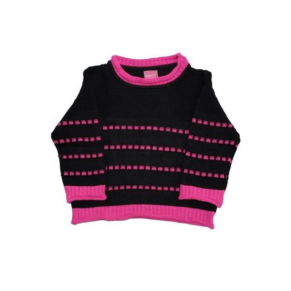sueter trico bebe feminino preto remyro 1004