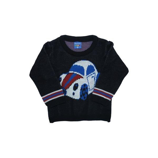 sueter trico bebe masculino carro preto remyro 1033
