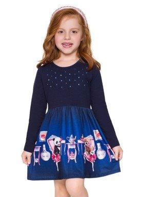 vestido manga longa infantil menina tea marinho brandili 53489 5