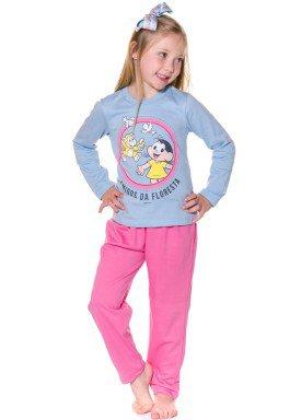 pijama longo infantil feminino turma monica azul evanilda 24040057