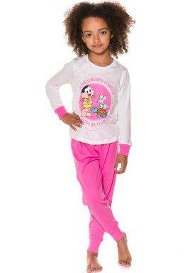 pijama longo infantil feminino turma monica natural evanilda 24040059