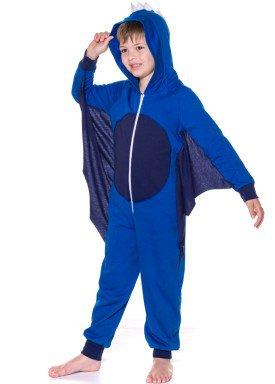 pijama longo infantil masculino dragao azul evanilda 27010033