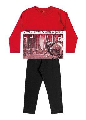 conjunto moletom infantil menino time vermelho elian 24967 1