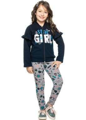 conjunto jaqueta moletom infantil feminino star marinho elian 251286 1
