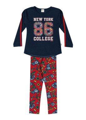 conjunto manga longa infantil feminino college marinho elian 251282 1
