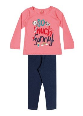 conjunto manga longa infantil feminino funny rosa elian 231335 1