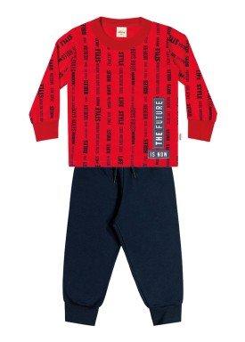 conjunto manga longa infantil masculino future vermelho elian 22973 1