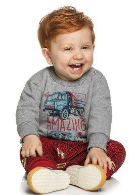conjunto moletom bebe masculino amazing mescla elian 20839 1
