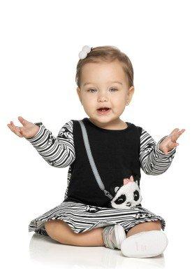 vestido molecotton bebe feminino panda preto elian 21980 1