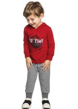 conjunto manga longa infantil masculino big time vermelho elian 22976 1