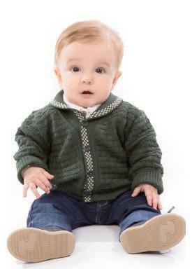 cardiga trico bebe masculino verde remyro 1030 1