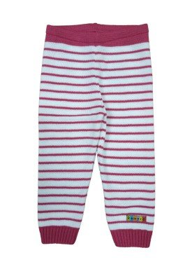 calca trico bebe feminina listrada pink remyro 0123 1